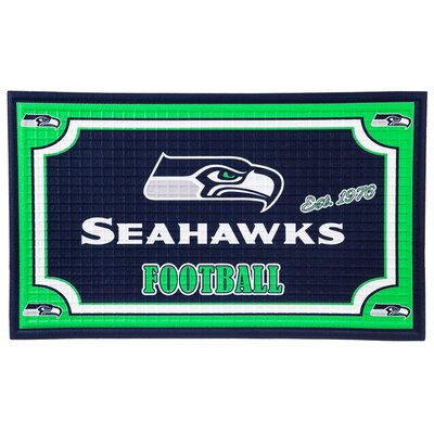NFL Embossed Doormat NFL Team: Seattle Seahawks
