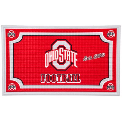 NCAA Embossed Doormat NCAA Team: Ohio State University