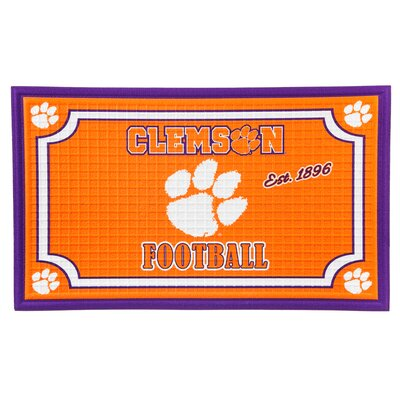 NCAA Embossed Doormat NCAA Team: Clemson University