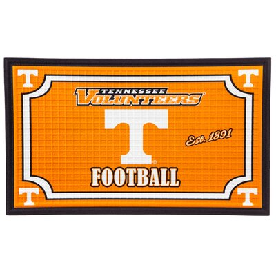 NCAA Embossed Doormat NCAA Team: University of Tennessee