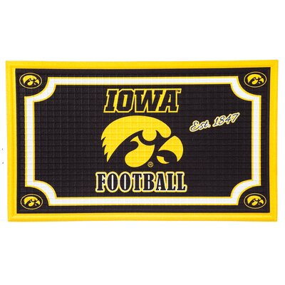NCAA Embossed Doormat NCAA Team: University of Iowa