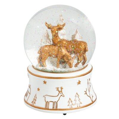 Deer Polystone Water Globe