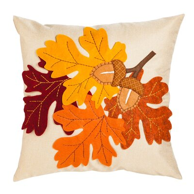 Northumberland Leaves & Acorn Outdoor Throw Pillow