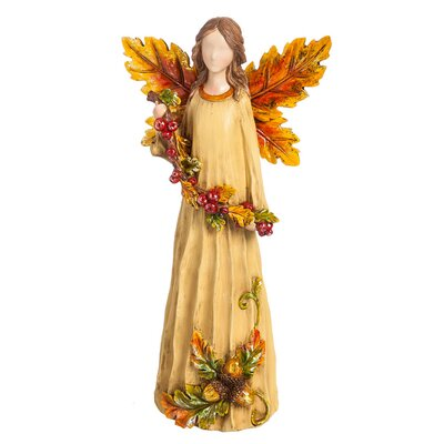 Decorative Fall Harvest Angel Figurine