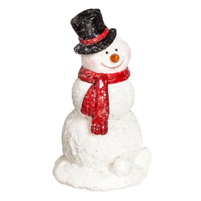 Decorative Light Up Mini Garden Snowman Figurine