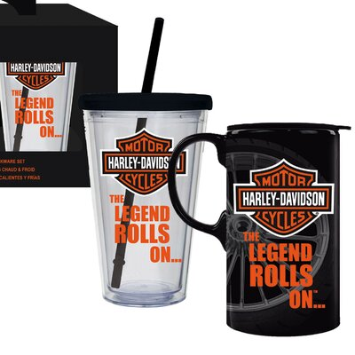 Harley-Davidson� 2 Piece Hot and Cold Cup Set P4214900LEG