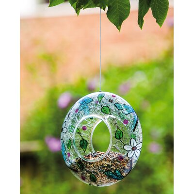 3 Piece Painted Butterfly Circle Decorative Bird Feeder Set (Set of 3) 2BF621