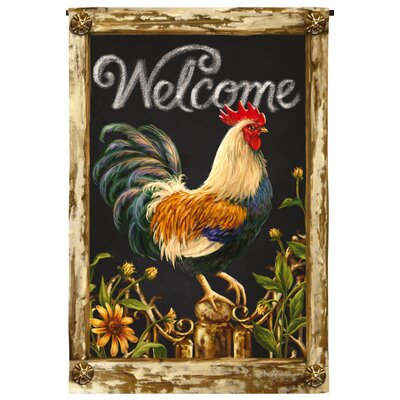 Welcome Rooster Garden Flag 14S3614