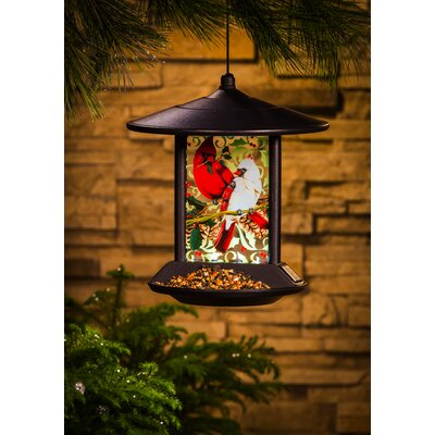 Cardinal Family Decorative Tray Bird Feeder