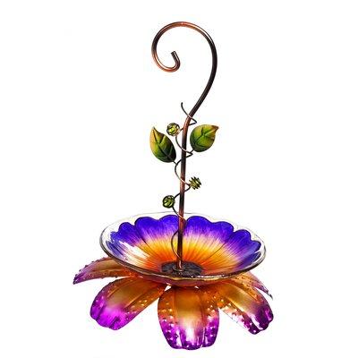 Floral Vine Decorative Tray Bird Feeder Color: Purple 2BF753