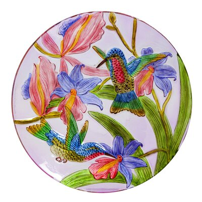 Vibrant Hummingbird Bird Bath 2GB642