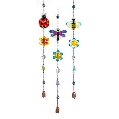 3 Piece Shimmer Beaded Garden Friends Hanging Garden Decor Set 491290