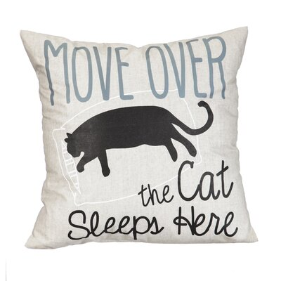 Folger Move Over the Cat Sleeps Here Throw Pillow