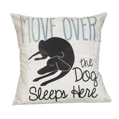 Folger Move Over the Dog Sleeps Here Throw Pillow