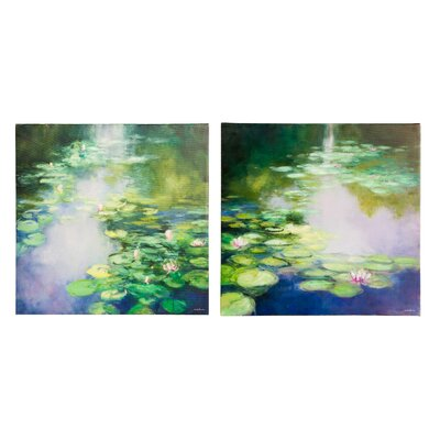 'Blue Lily' Print Multi-Piece Image on Canvas Set