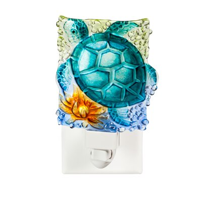 Turtle Crushed Glass Night Light