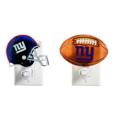 New York Giants Glass 2 Piece Night Light Set
