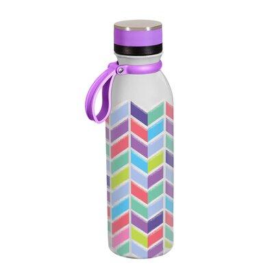 Derwin Chevron 20 oz. Stainless Steel Water Bottle LDER7855 43307127