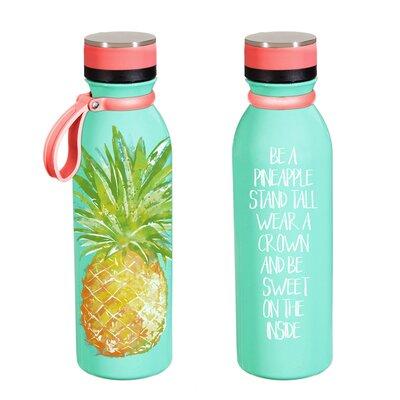 Roesler Pineapple 20 oz. Stainless Steel Water Bottle VRKG7212 43306989