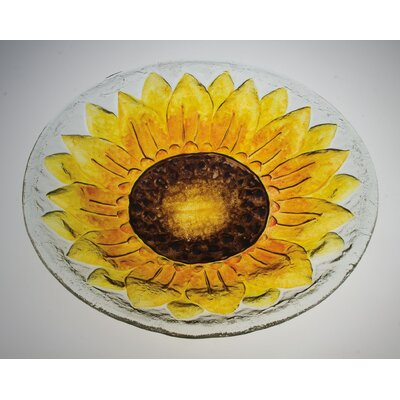 Evergreen Enterprises Sunflower Glass Bird Bath (Set of 2) at Sears.com