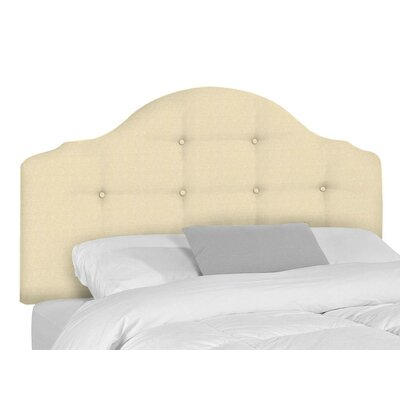 Stephanie Upholstered Panel Headboard Upholstery: Bull Natural, Size: Queen