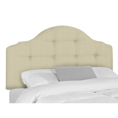 Stephanie Upholstered Panel Headboard Size: King, Upholstery: Flax