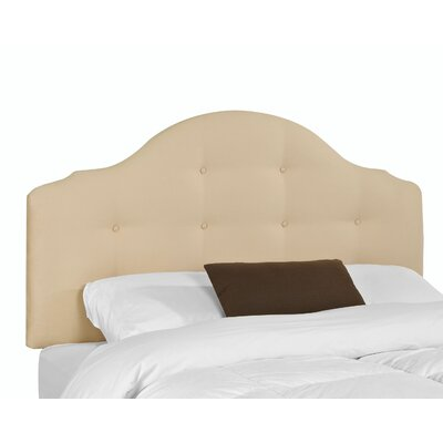 Donegal Upholstered Panel Headboard Size: 60 H x 80 W x 3 D, Upholstery: Khaki