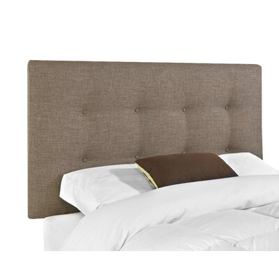 Belfast Upholstered Panel Headboard Upholstery: Stone, Size: King