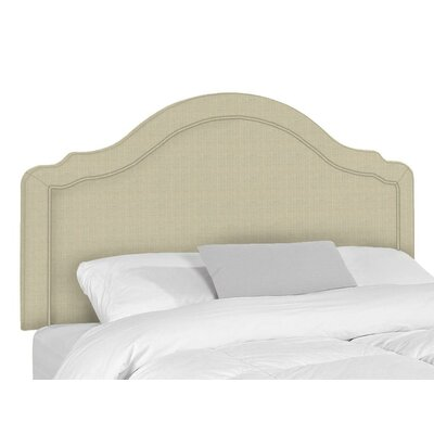 Mill Upholstered Panel Headboard Size: Twin, Upholstery: Flax