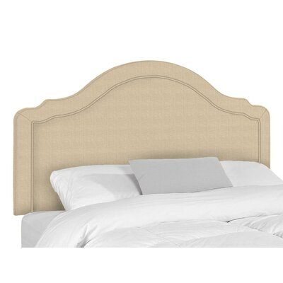 Mill Upholstered Panel Headboard Size: King, Upholstery: Aqua