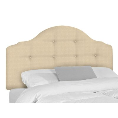 Stephanie Upholstered Panel Headboard Size: Twin, Upholstery: Beige