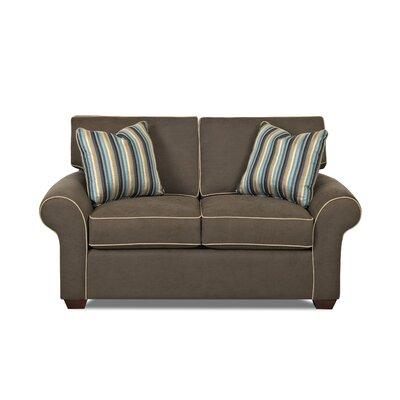 Milton 66 Loveseat Upholstery: Bevin Driftwood