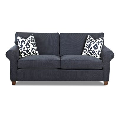 Tory Loveseat Piping Color: Cadet
