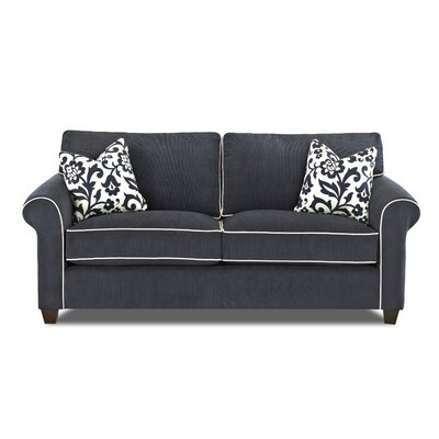 Tory Loveseat Piping Color: White