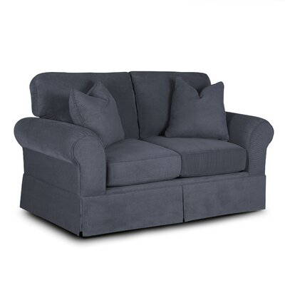 Greenough Loveseat Upholstery: Gunmetal
