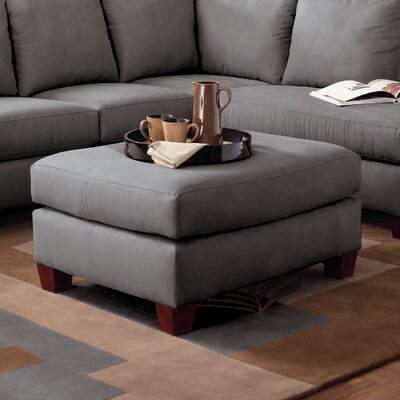 Higgins Ottoman Upholstery: Microsuede Charcoal
