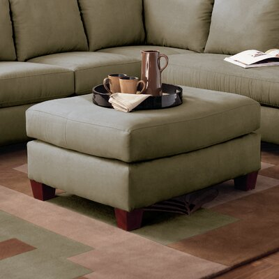Higgins Ottoman Upholstery: Microsuede Thyme