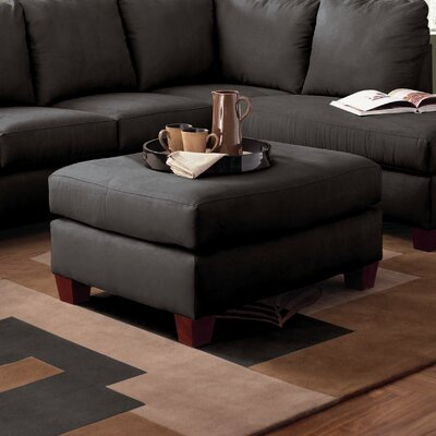 Higgins Ottoman Upholstery: Microsuede Onyx