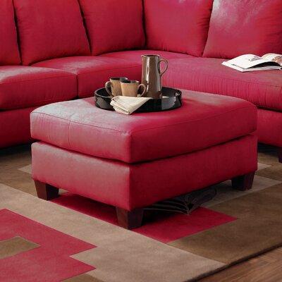 Higgins Ottoman Upholstery: Microsuede Cinnabar