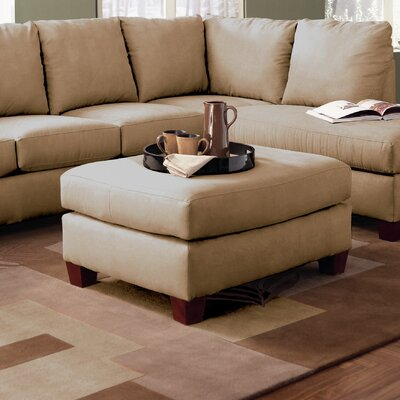 Higgins Ottoman Upholstery: Microsuede Straw