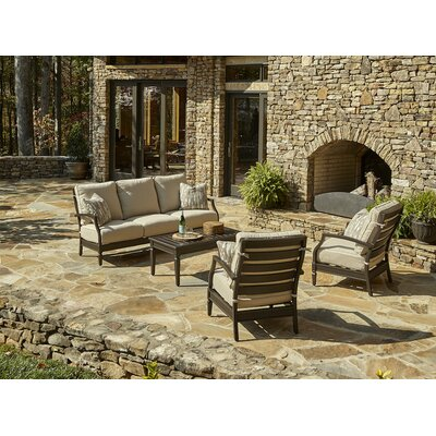 Cerissa 4 Piece Deep Seating Group with Cushion Accent Pillow Fabric: Marin Desert