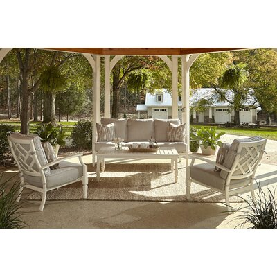 Mimosa 4 Piece Deep Seating Group with Cushion Accent Pillow Fabric: Marin Desert, Fabric: Sahara Gravel