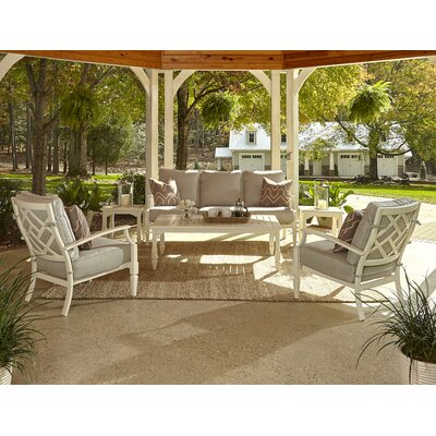 Mimosa 6 Piece Deep Seating Group with Cushion Fabric: Sahara Gravel, Accent Pillow Fabric: Webster Guava