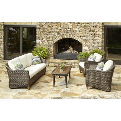 Sycamore 4 Piece Deep Seating Group with Cushion Accent Pillow Fabric: Miri Amazon
