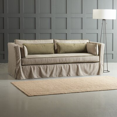 Bleeker Sofa with Trim Body Fabric: Zula Pumice/Belsire Gray