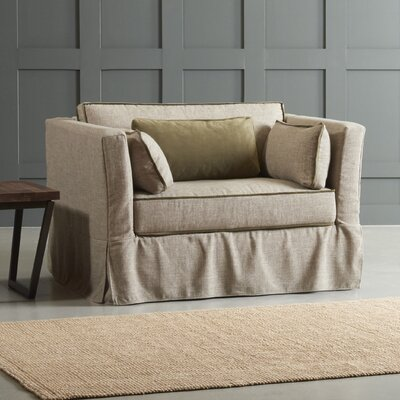Bleeker Chair with Trim Body Fabric: Zula Linen/Belsire Buckwheat