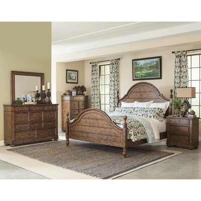 Peatman Four Poster Customizable Wood Bedroom Set