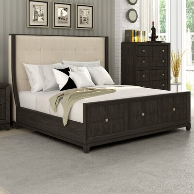 Amabilia Complete Upholstered Panel Bed Size: King
