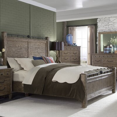 Holden Oak Panel Bed Size: King