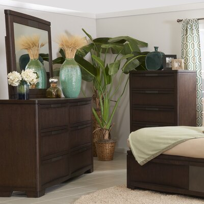 Felica 6 Drawer Double Dresser with Mirror